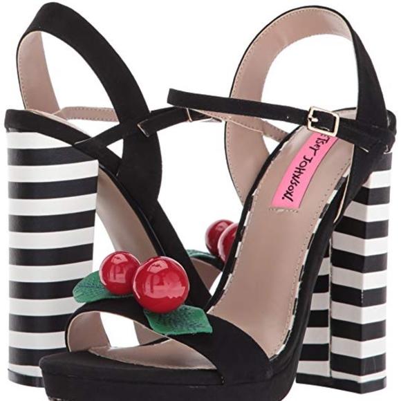 f543ef36dde Betsey Johnson - Izzie Cherry Striped Heel Sandal